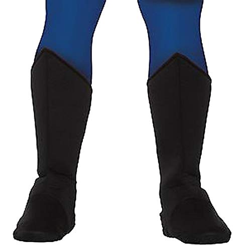 (Forum Adult Black Super Hero Boot Tops Fits Up to Calks Size 14