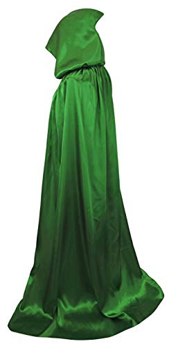 VGLOOK Unisex Hooded Halloween Christmas Cloak Costumes Party Cape (Green)