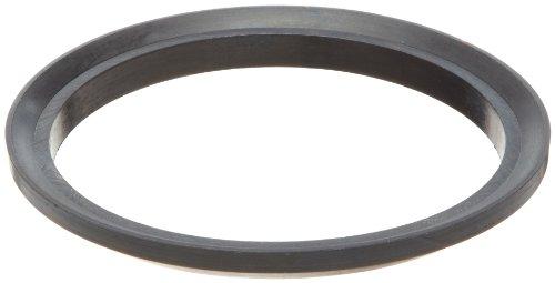 Buna-N Gasket for Threaded Bevel Seat Fitting, Black, 0.350
