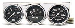 Autometer AutoGage 2 5/8 Oil Press./Water Temp./Volt Gauge ()
