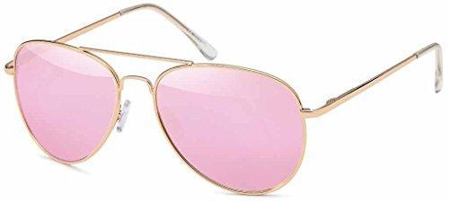 Lunettes effet Ans d'aviateur soleil soleil '70 Gold Homme Rosé aviateur de de soleil Femmes Lunettes de lunettes Années amp; lunettes miroir TFa8q8xZ
