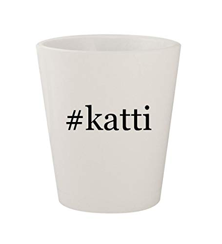 #katti - Ceramic White Hashtag 1.5oz Shot Glass