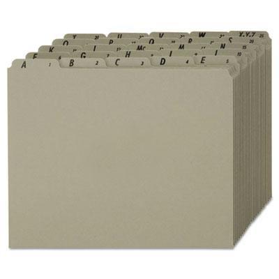 Index Dividers Pendaflex - Pendaflex - Recycled Top Tab File Guides Alpha 1/5 Tab Pressboard Letter 25/Set