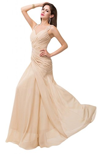 sunvary Trailing vestidos de gasa de raso para Dama Pageant Ocasiones Especiales azul real