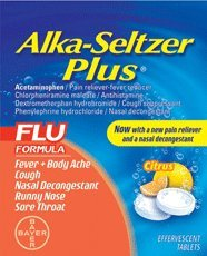 Alka-seltzer Plus Flu Citrus Effervescent, 20-Count (Pack of 2)