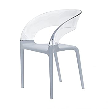 Driade Avec Clair Empilable Gris G19 Chaise Accoudoirs Design Ring 8OPnwXN0k