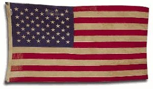 Valley Forge, American Flag, Cotton, 3' x 5', 100% Made in USA, Heritage Series, Antiqued Colonial 50-Star US American Flag by Valley Forge