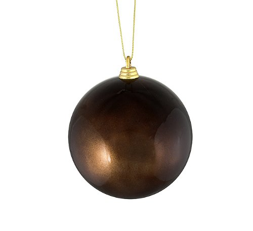 Vickerman Satin Chocolate Brown Shatterproof Christmas Ball Ornament, (0.25 Lb Chocolate)