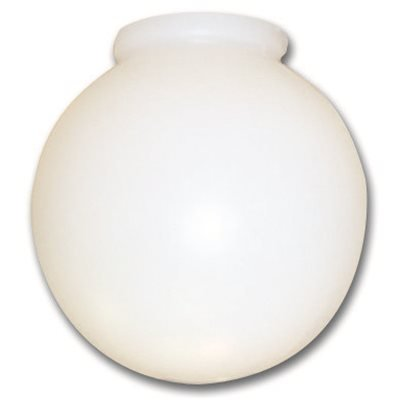 NATIONAL BRAND ALTERNATIVE 2489656 Ball Globe Ceiling Fixture Replacement Glass with 3-7/8'' Fitter, Milky White, 10'', 4 Per Box