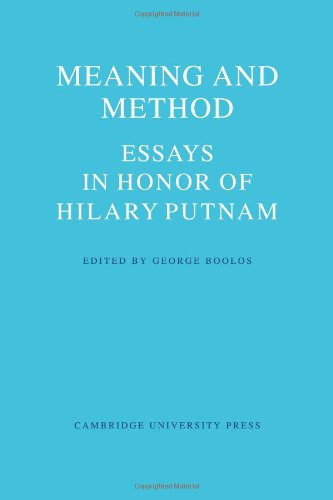 meaning and method essays in honor of hilary putnam 978-0-521-11585-8 - meaning and method: essays in honor of hilary putnam meaning and method: essays in honor of hilary putnam edited by george boolos.