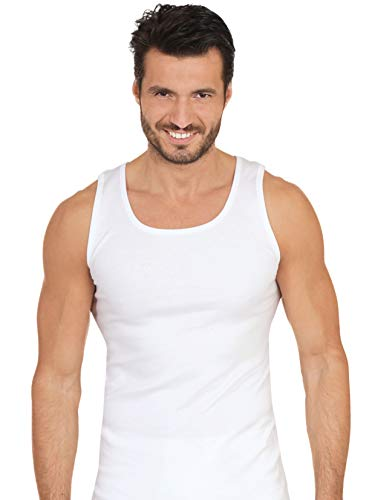 MaRe Premium Quality 100% Brushed Cotton/Fleece Men's Sleeveless Tank. Proudly Made in Italy. (6 (X-Large), -