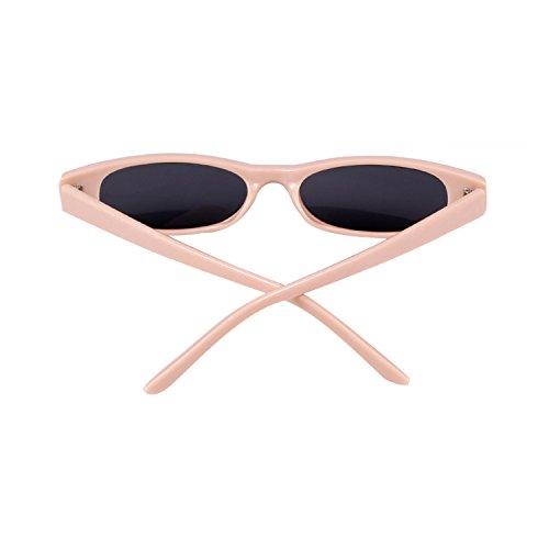 Soleil Lunettes Hommes Clout Pink Retro Gray Femmes De Goggles lens frame Oval Petit Adewu 0WqXF6