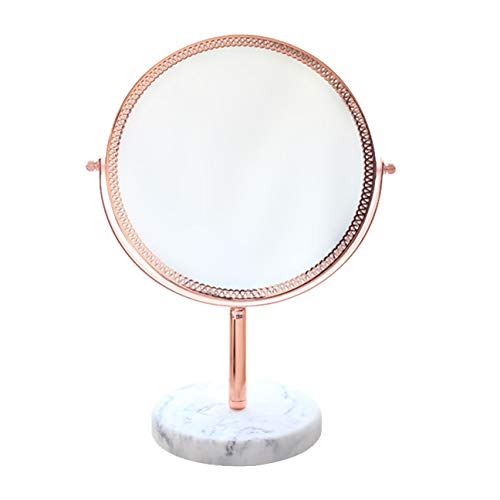 DONGANQI Desktop Double Mirror Mirror Makeup Mirror Desktop Makeup Mirror Female Metal Mirror Desk Dressing Mirror,17.8cm