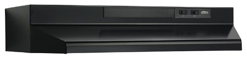Broan 433023 ADA Capable 4-Way Convertible Under-Cabinet Range Hood, 30-Inch, Black Steel