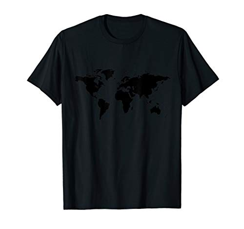 World Map Countries Continents Oceans  T-Shirt