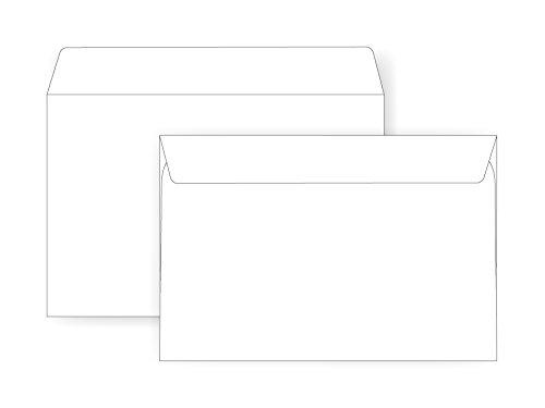 6 x 9 Booklet Envelope - 24# White Wove - Open Side- (6 x 9) - Jumbo Envelope Series (Box of 1000)