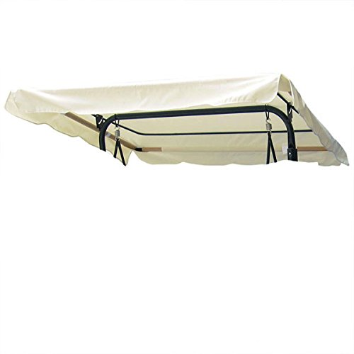 Ivory Replacement Swing Canopy Cover for Outdoors – 6.37 Foot