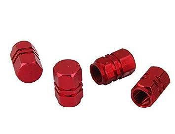 Upper 4pcs Tapas Tapones Válvula Neumático para Rueda Motocicleta Coche Forma Bala (Rojo): Amazon.es: Deportes y aire libre