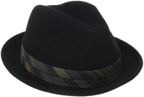 Lined Fedora - Goorin Bros. Men's Big Frank Fedora Hat, Black, Large