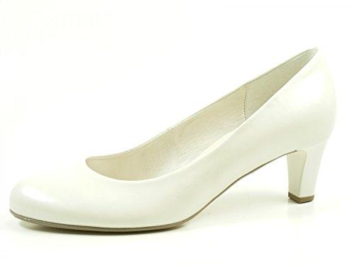 Gabor Shoes Gabor Basic, Zapatos de Tacón para Mujer Blanco (Off-white+absatz)