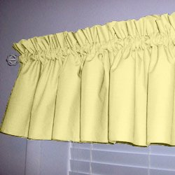 Solid Color Window Valance   Color: Light Yellow