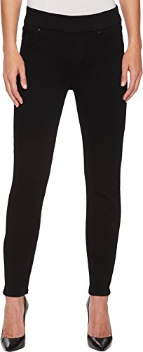 Liverpool Women's Sienna Ankle Pull-On Leggings in Premium Super Stretch Denim in Black Rinse Black Rinse 4 (Rinse Wash Wide Leg)