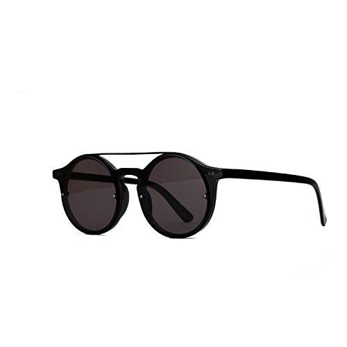 Gafas Pareja Y Gafas América Ovaladas Brown De CTao Roja Protección Barras con UV Sol Gafas Retro Europa De Sol Black pxzdxqT