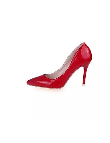 GGX/Damen Heels Frühjahr/Herbst Heels PU Casual Stiletto Heel andere schwarz/rot/weiß andere red-us8 / eu39 / uk6 / cn39