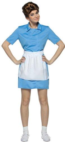 Brady Bunch Alice Costume - One Size - Dress Size 6-10 (Brady Bunch Alice Adult Wig)