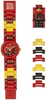 LEGO Watches and Clocks Boy's 'Ninjago Kai' Quartz Plastic Casual watch, Color:Red (Model: 8021421)