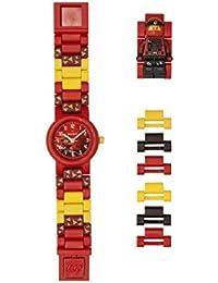 LEGO Watches and Clocks Boy's 'Ninjago Kai' Quartz Plastic Casual watch, Color:Red (Model: 8021421)