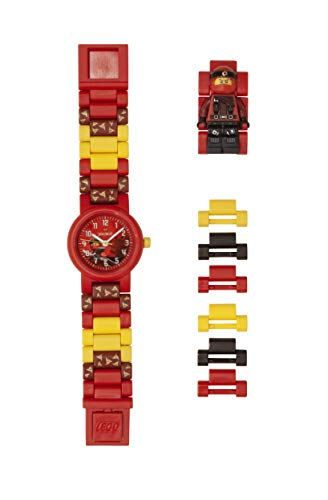 LEGO Watches and Clocks Boy's 'Ninjago Kai' Quartz Plastic Casual watch, Color:Red (Model: 8021421) ()
