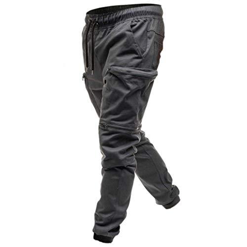 Harem Pantalon Basic D'entrainement Denim Grey Homme Pocket xrrqpw