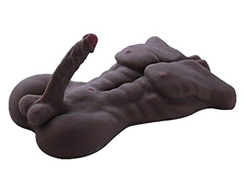 Safe & Durable Medical Grade Silicone Love Doll for Men and Women's Toy Couples Gifts - 12 lbs, US Shipping, Privacy Packaging (brown)