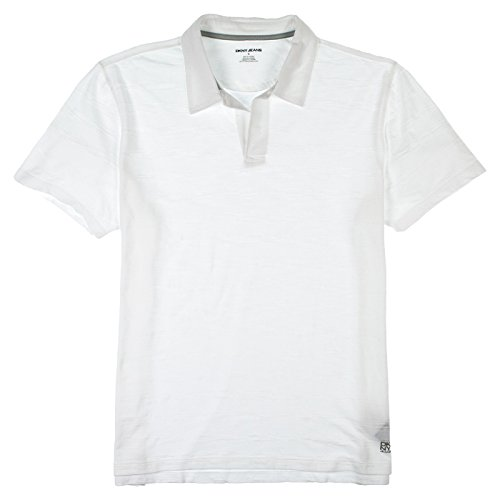 DKNY Jeans Mens Short Sleeve Polo Shirt X-Large White - Dkny White Shirt