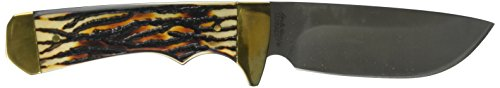 Uncle Henry 182UHCP 7Cr17MoV Steel Elk Hunter Knife with Leather Sheath