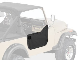 Bestop 53038-01 Black Crush Fabric Lower Half Door Set for 1980-1995 CJ7, CJ8 Scrambler and Wrangler YJ (Wrangler Cj7 Cj8)