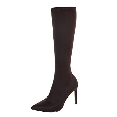Ital-Design - botas clásicas Mujer marrón oscuro