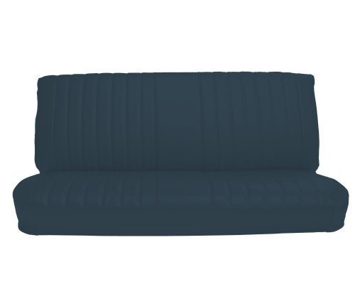 Acme U1005-2309 Front Medium Blue Vinyl Bench Seat Upholstery with Pleated Inserts ()