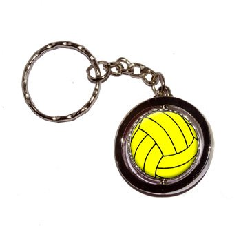 Water Polo H2O Polo Ball Round Spinning Keychain