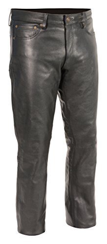 Milwaukee Leather Men's Premium Leather Pants (Black, Size 32) (S)
