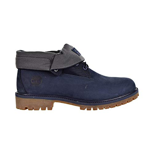 Timberland Men's Icon Collection Single Roll-Top Ankle Boot Navy Nubuck 13 Medium US