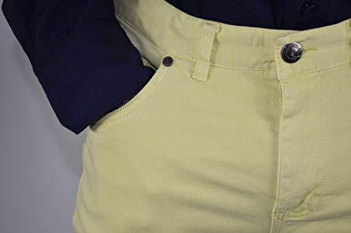 Regular Pantalone Twill Unita Capo Tasche 1stamerican Di 100 Fit Tinto Giallo Cotone 5 Uomo Elasticizzato Tinta Da pTnx6H