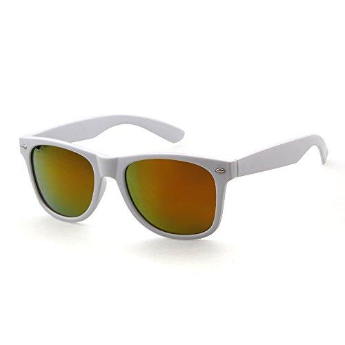 ADEWU Wayfarer Sunglasses Revo Vintage Large Mirror Lens Sunglasses Women Men - Sunglasses Bulk Wholesale Designer