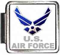 US Air Force Italian Charm Bracelet Jewelry Link A10091