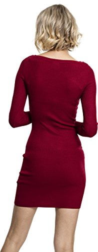 Vestito Dress Rot 606 burgundy Out Urban Ladies Donna Classics Cut IXFwgq