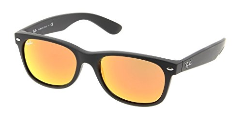 Ray Ban RB2132 622/69 52 Pink Mirror New Wayfarer Sunglasses Bundle-2 - Pink Ban Ray Wayfarer