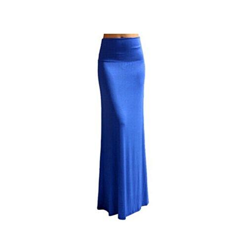 Nanxson(TM) Jupe Moulante Long Style Dcontract  La Mode Pour Femmes Q0017 Bleu