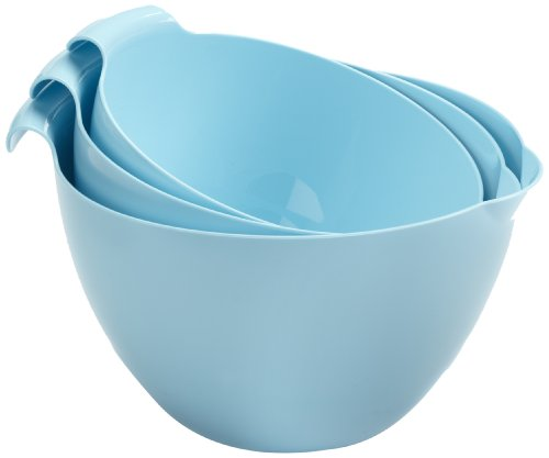 (Linden Sweden 3-Piece Mixing Bowl Set, Light Blue)