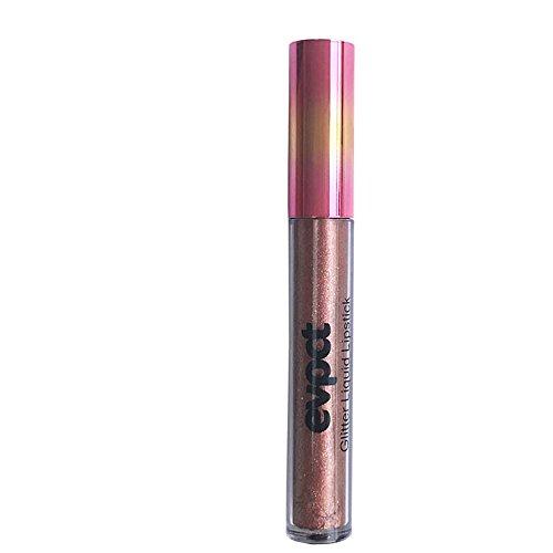 Hattfart 15 Colors Diamond Lipstick Matte Metallic Lip Glosses Set Lip Waterproof Long Lasting Shimmer Liquid Lip Glosses (N)